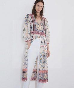 Bohème romantisches weißes Kleid