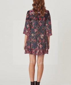 Bohemian chic langärmeliges Kleid