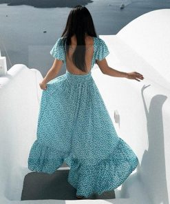 Langes Hippie Kleid aus Baumwoll Voile